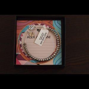 Alex and Ani Silver Bead Adjustable Bracelet